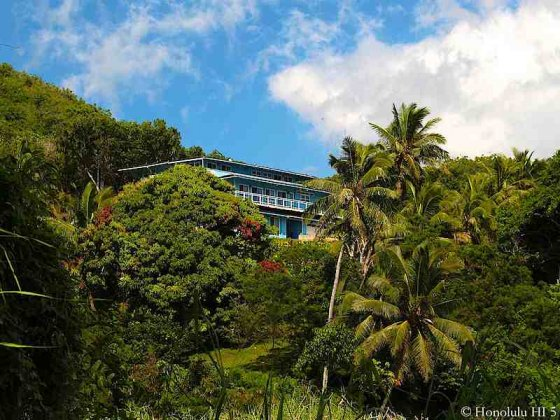 Hillside House in Kaneohe Hidden Among Lush Green