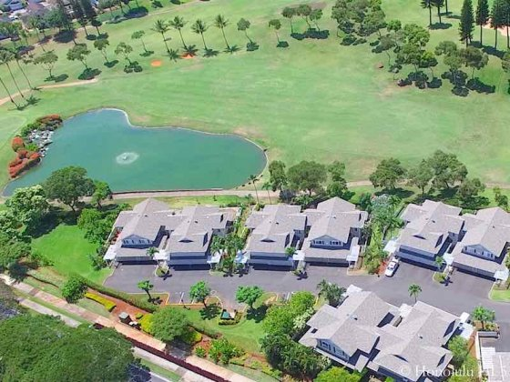 Waikele Townhomes Fronting Golf Course - Aerial Photo