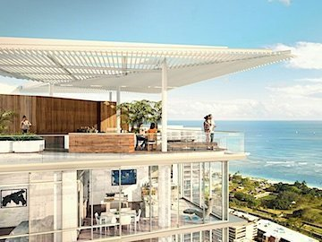 Ae'o Condo Rooftop Terrace and Exterior Rendering