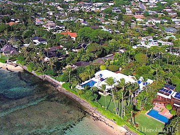 Kahala Beachfront Homes - Drone Photo