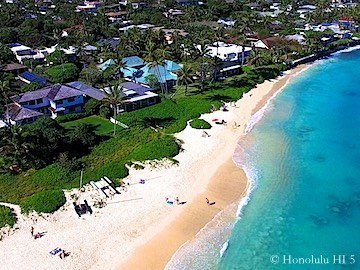 Lanikai Kailua Beachfront Homes - Drone Photo