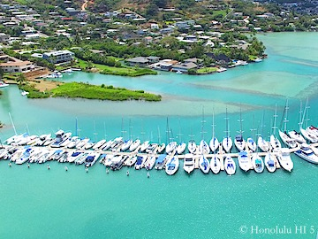 Kaneohe Bayfront Homes - Drone Photo