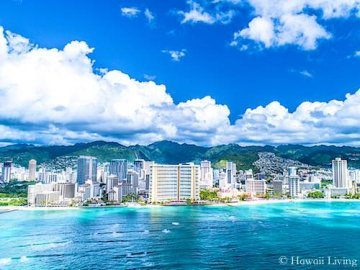 Waikiki Oceanfront Properties - Drone Photo