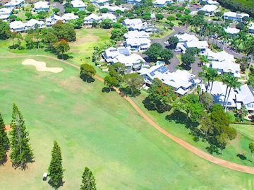 Aerial Photo of Waikele Homes on Golf Course