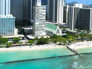 Foster Tower Waikiki - Drone Photo