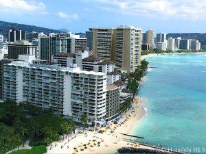 Waikiki Shore - Drone Photo