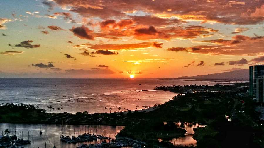 Sunset View from The Watermark Waikiki