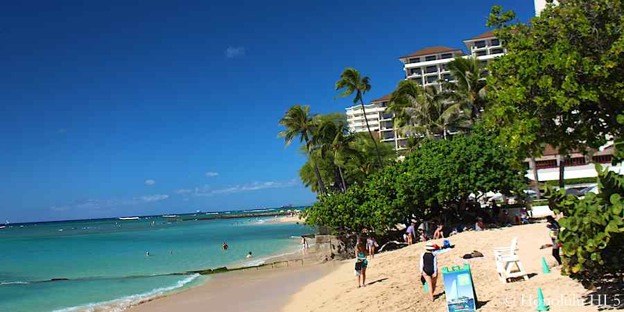 Waikiki Beach by 5 star Halekulani Hotel