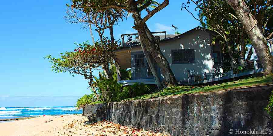 Oceanfront Beach Home on Oahu's North Shore