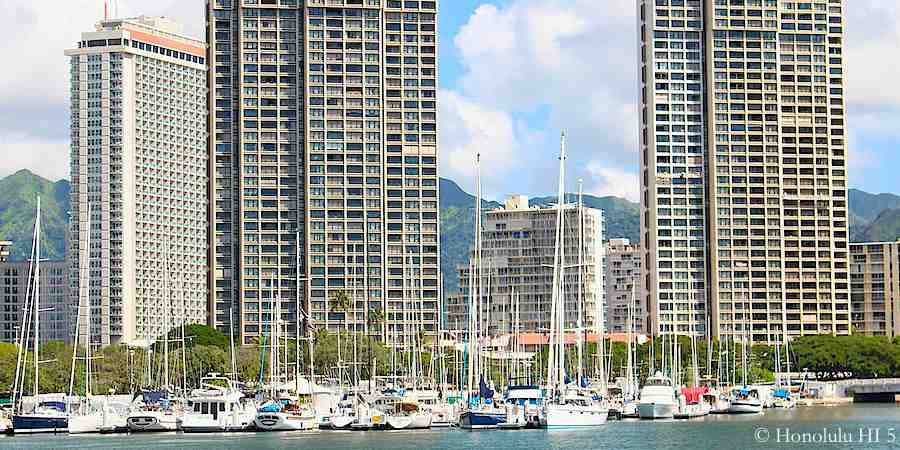 Yacht Harbor Towers Condos in Ala Moana