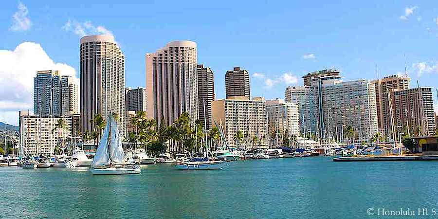 Condos in Waikiki Seen From Magic Island