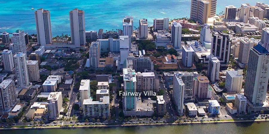 Fairway Villa Waikiki - Aerial Photo