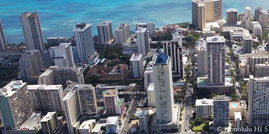 Hawaiian King Waikiki Condo - Aerial Photo