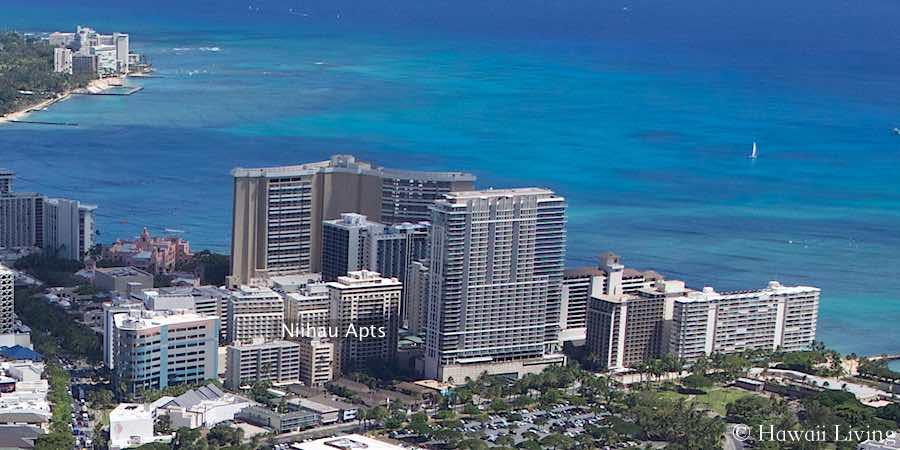 Niihau Apartments Waikiki - Aerial Photo