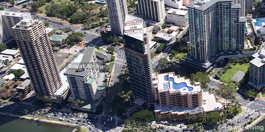 Royal Aloha Waikiki Condo - Aerial Photo