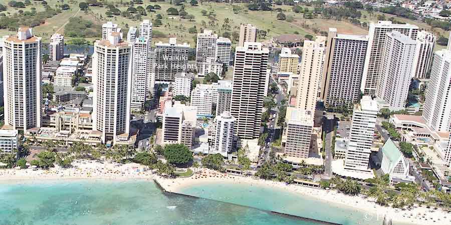Waikiki Park Heights - Aerial Photo