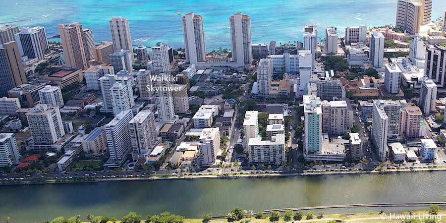 Waikiki Skytower - Aerial Photo