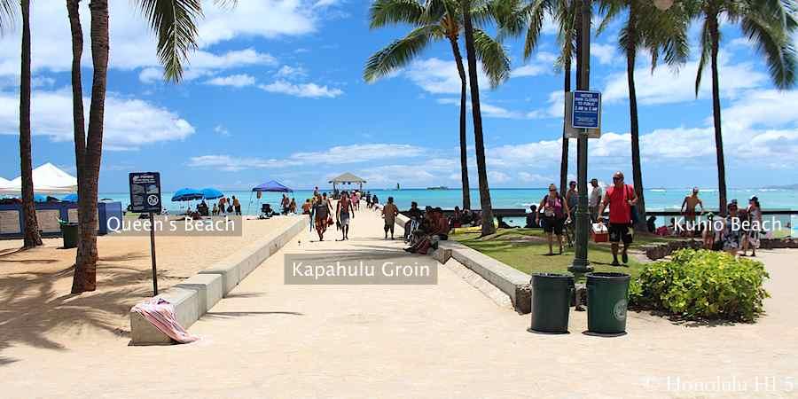 Kapahulu Groin in Waikiki
