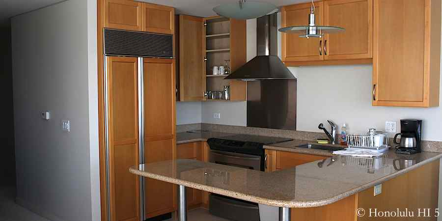 Original kitchen look in the '03' units.