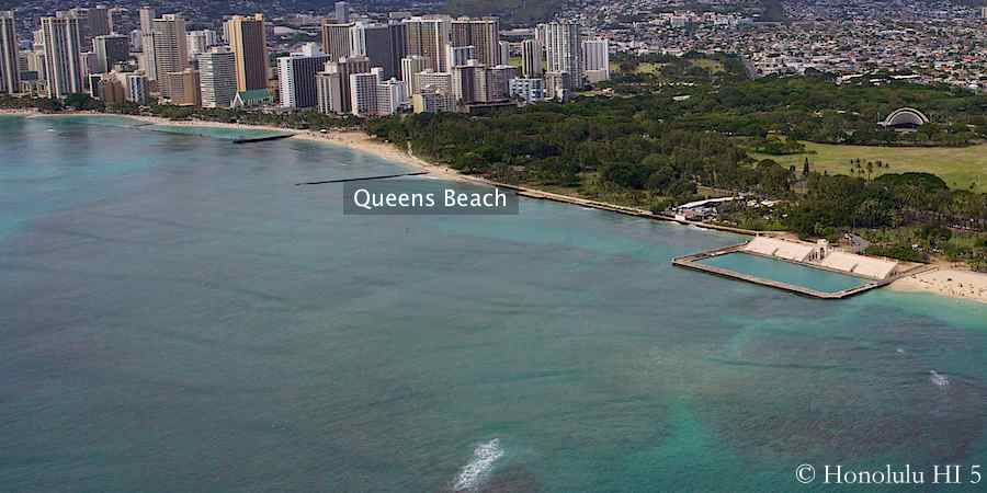Aerial photo of Queens Beach