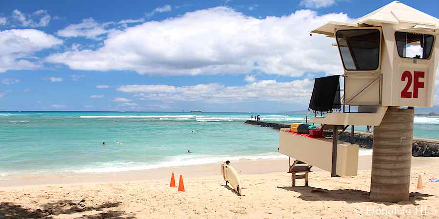 queens-beach-waikiki-rescue-tower