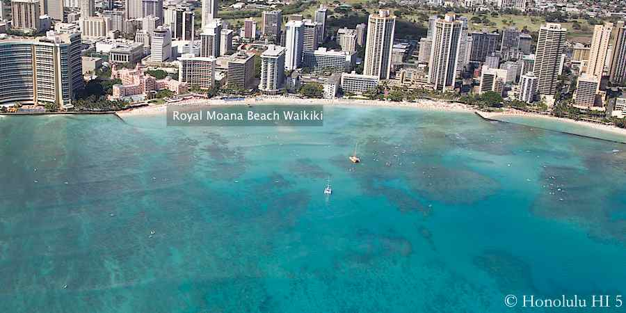 Aerial photo of Royal Moana Beach