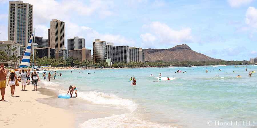view-of-diamond-head-and-waikiki-hotels-from-royal-hawaiian-beach