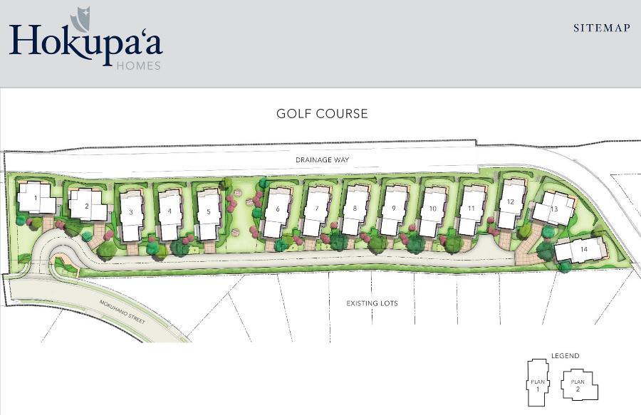 Hokupa'a site map