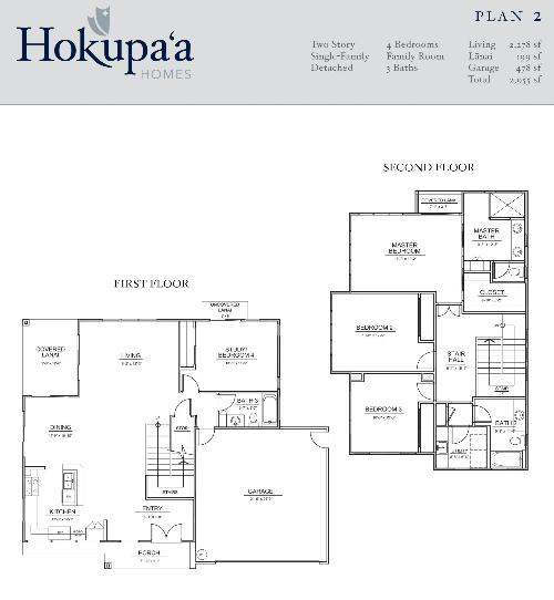 Hokupa'a - Plan 2