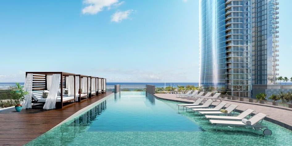 7 new grand penthouses for sale in honolulu hi for Pool design honolulu