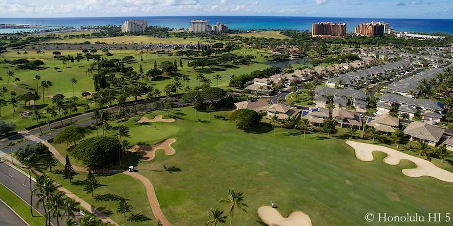 Ko Olina Golf Course - Stunning Aerial Photo