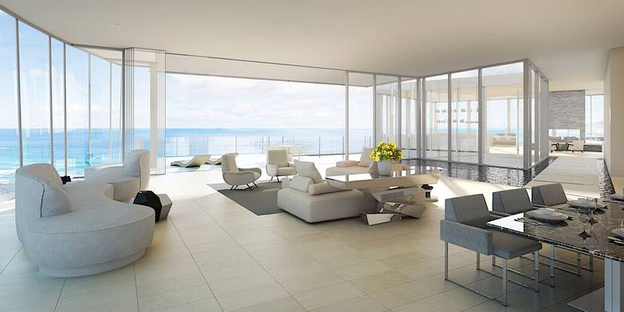 Waiea Level 36 Grand Penthouse Living and Dining Room