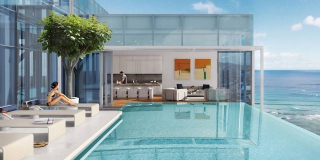 Waiea Grand Penthouse Mauka Sky Lanai Private Pool