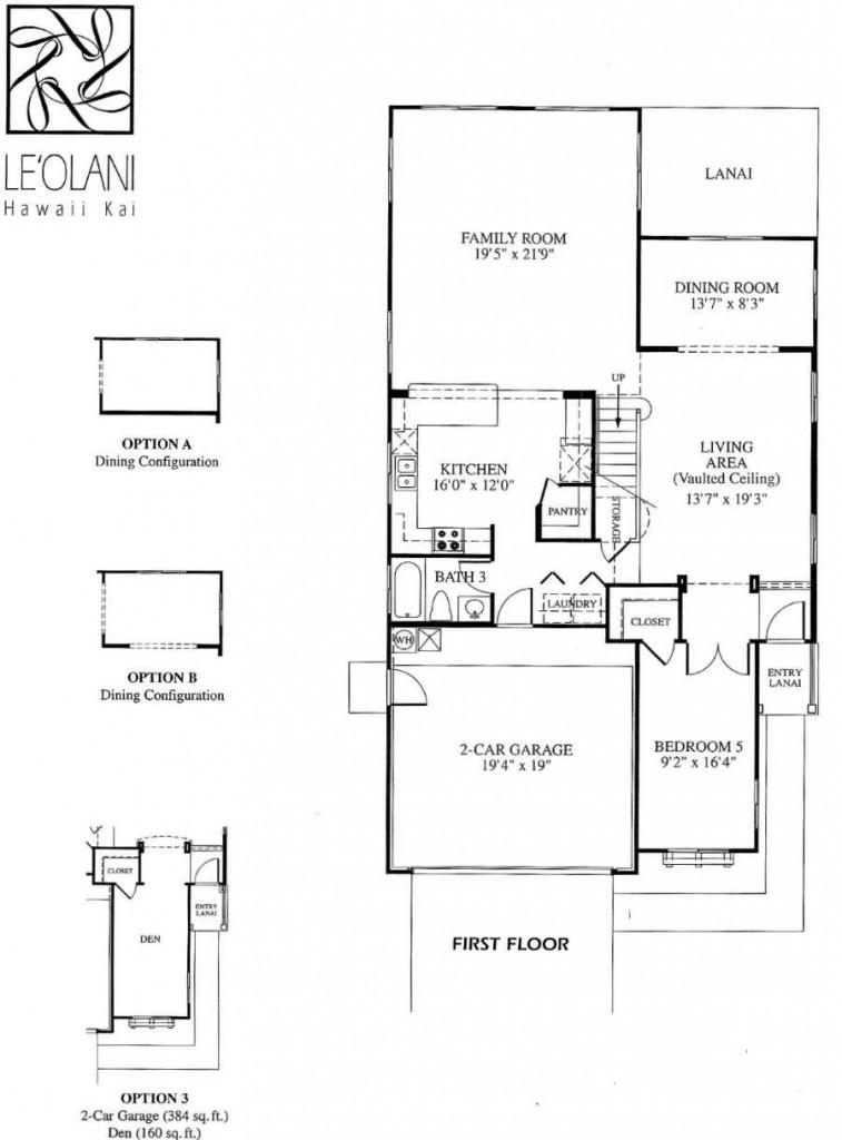 5 leolani floor plans newer hawaii kai homes for Hawaiian floor plans