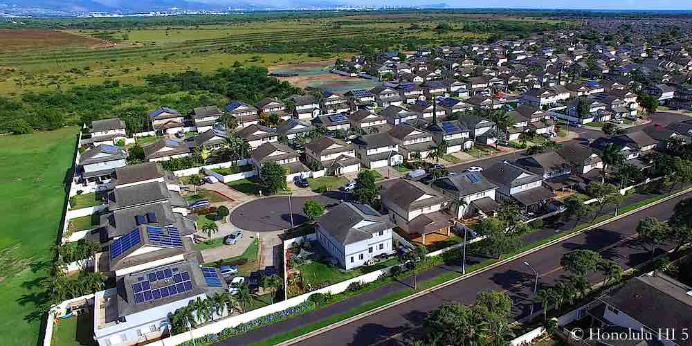 Ewa Gentry Breakers Homes Aerial Photo