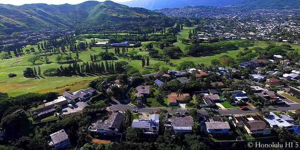 Country Club Knoll Kailua Homes - Aerial Photo