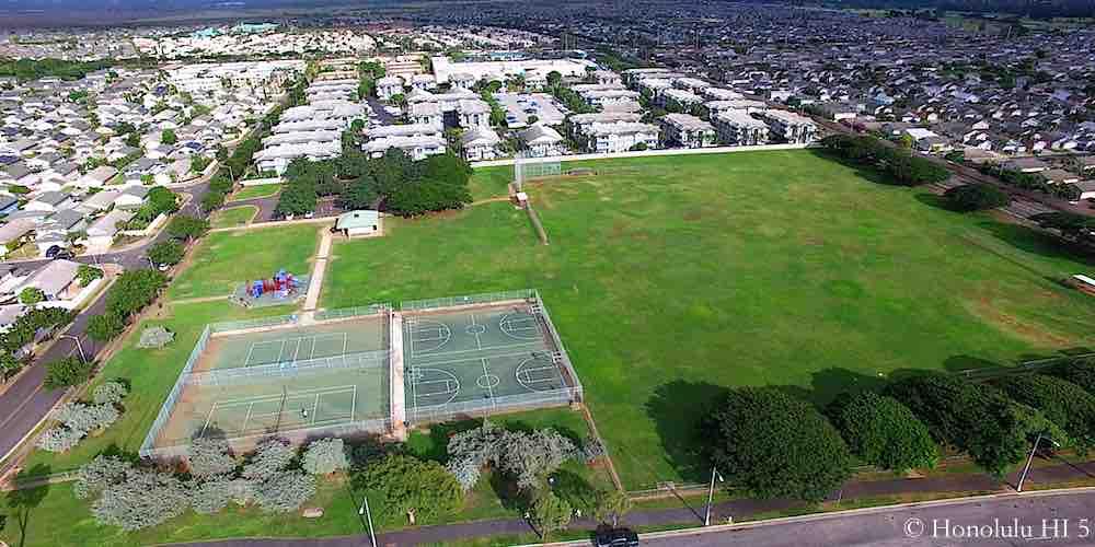 Geiger Park in Ewa Beach - Aerial Photo