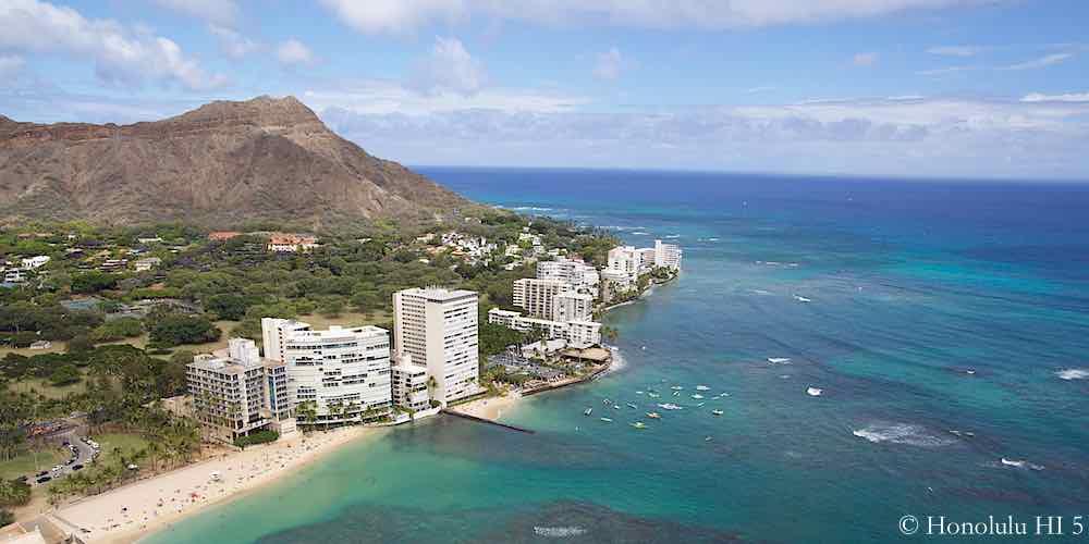 Hawaii's Gold Coast Aerial Photo