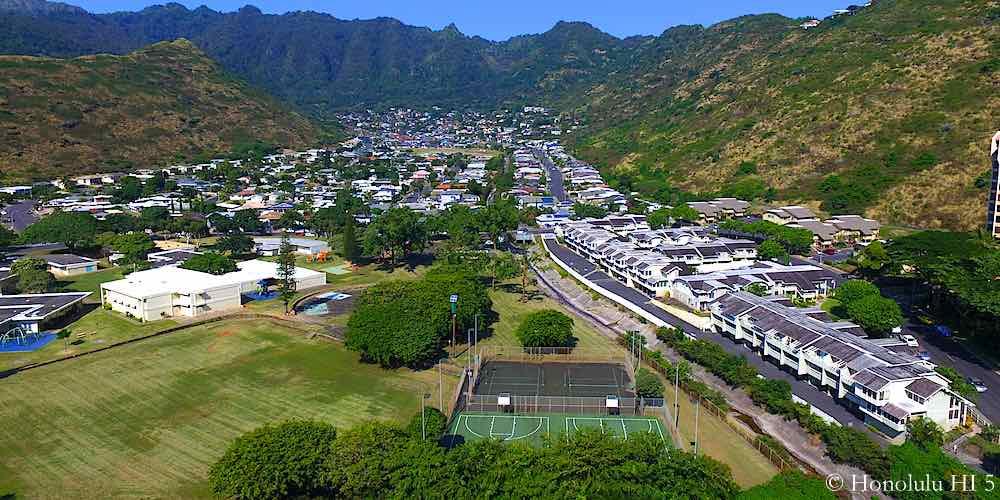 Hahaione Elementary School Aerial Photo