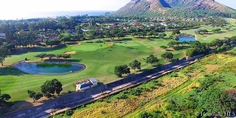 Hawaii Kai Golf Course Aerial Photo