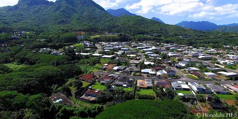 Kailua Bluffs Homes - Aerial Photo