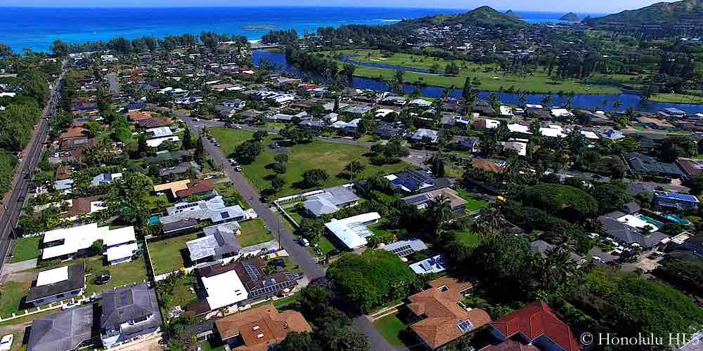 Kailua Estates Homes - Aerial Photo