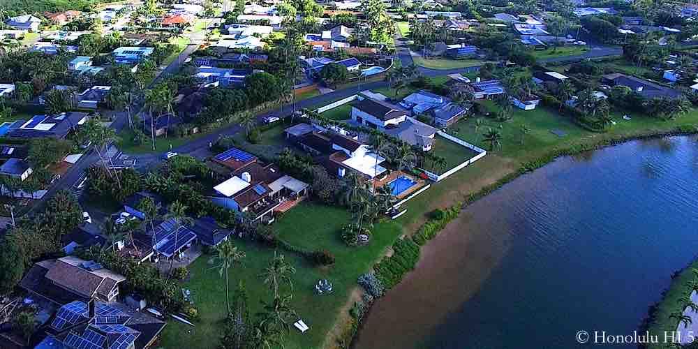 Kaimalino Homes in Kailua - Aerial Photo