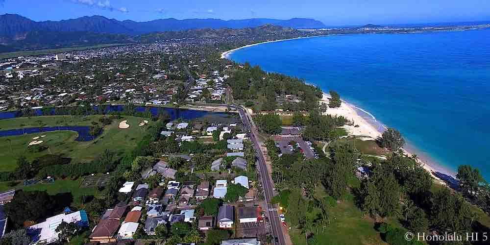 Kawailoa Kailua Homes - Aerial Phot