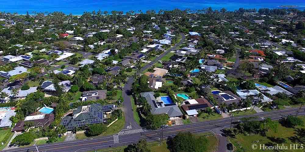 Kuulei Tract Homes - Aerial Photo