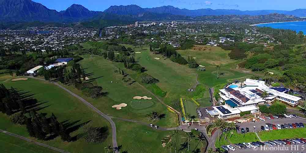 Mid Pacific Country Club in Kailua - Aerial Photo