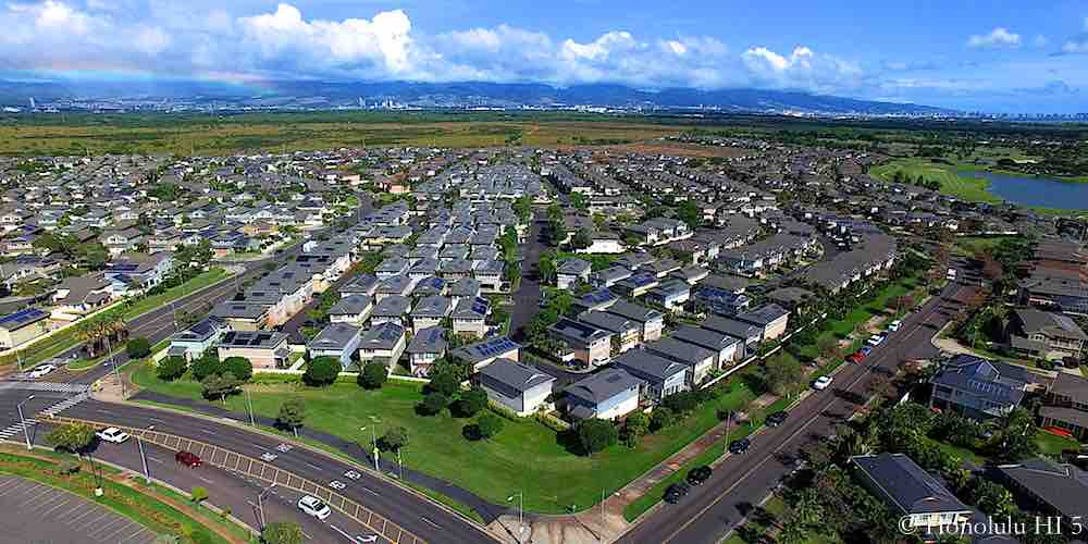 Montecito & Tuscany Ewa Gentry Homes - Aerial Photo