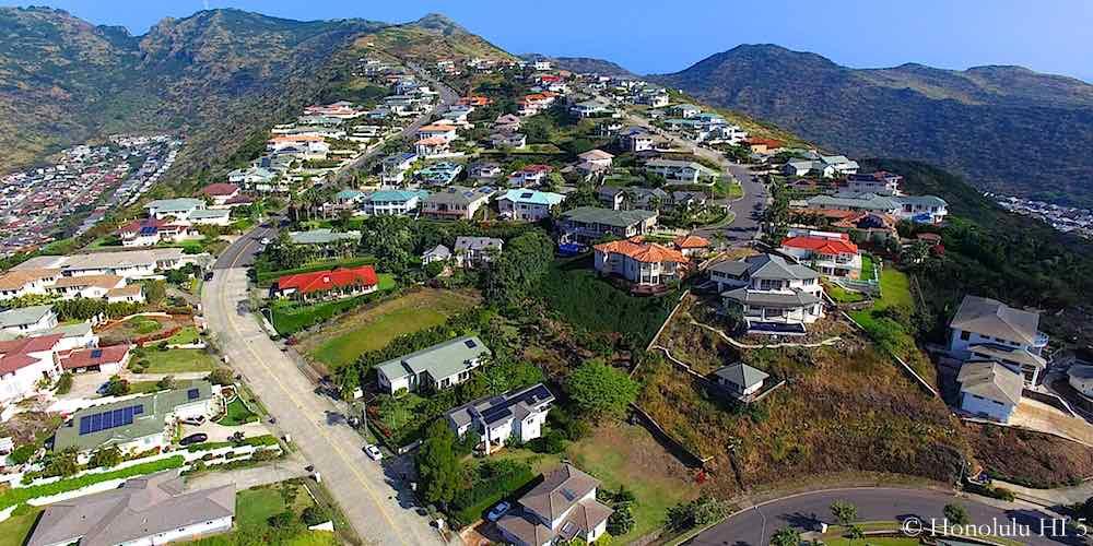 Napali Haweo Homes Aerial Photo