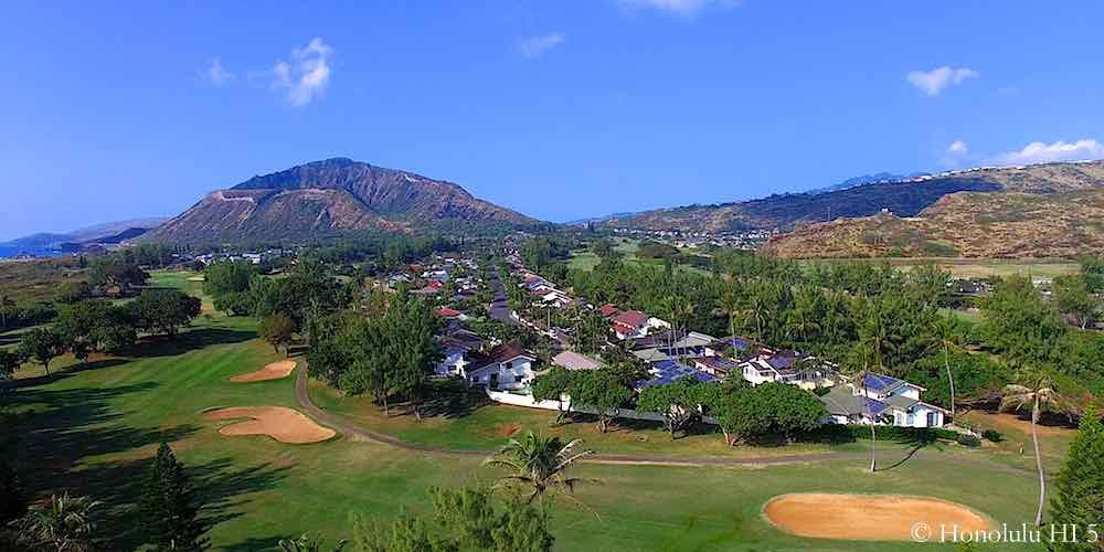 Queens Gate Homes in Hawaii Kai - Aerial Photo