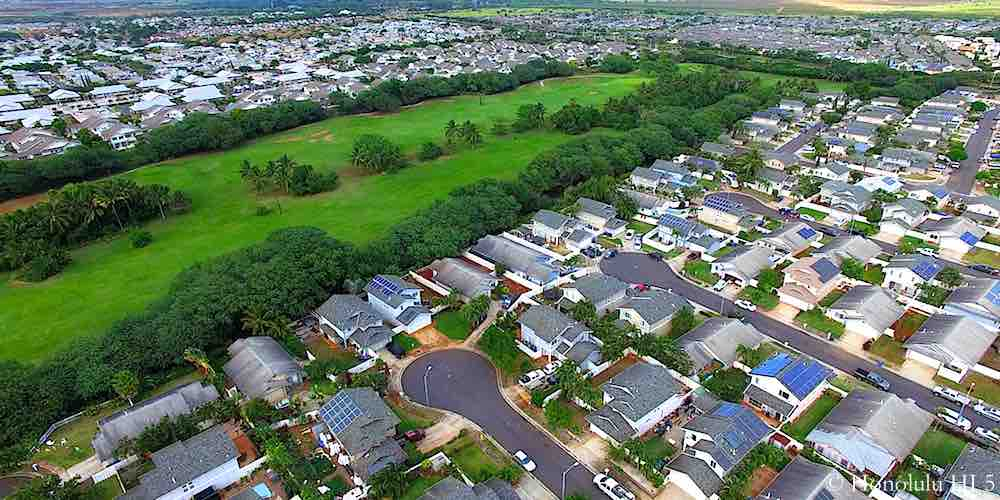Sun Terra On The Park Homes in Ewa Gentry - Aerial Photo